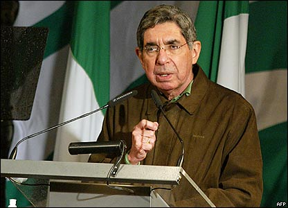 Président Oscar Arias (Photo BBC News)